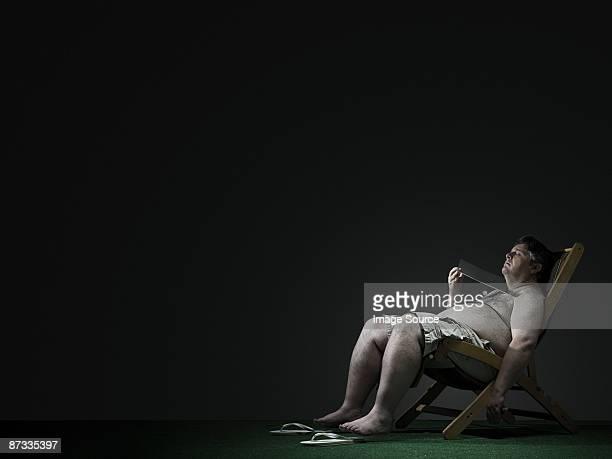 Man in a deckchair