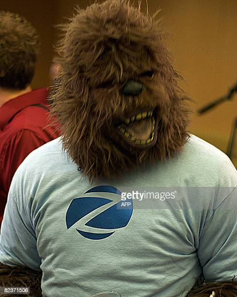 A man in a gorilla suit mocks the proceedings of a press conference on August 15 2008 in Palto Alto California when pictures were presented...
