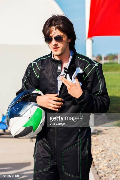 Man in a race suit