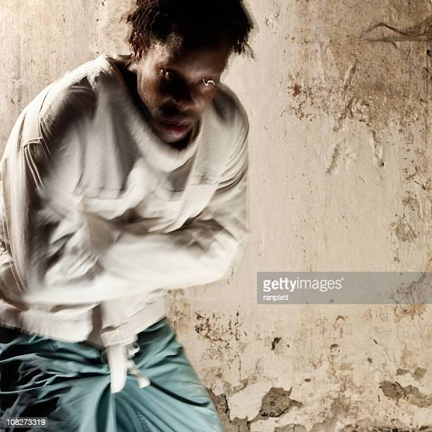 man in a straitjacket - straight jacket stock pictures, royalty-free photos & images