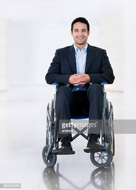 Man in a wheelchair at the hospital