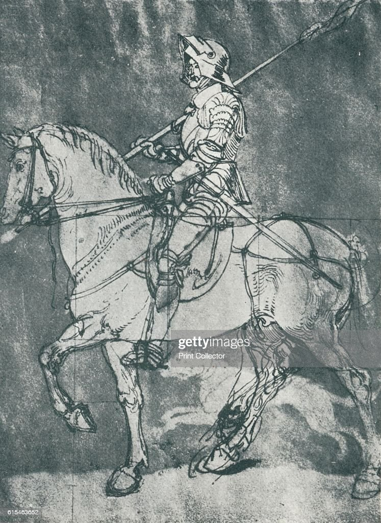 Man in Armour, on Horseback'   Northern Renaissance genre painting