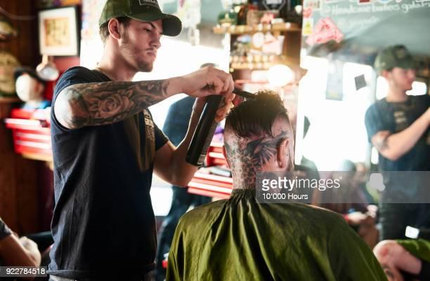 Man in barber shop