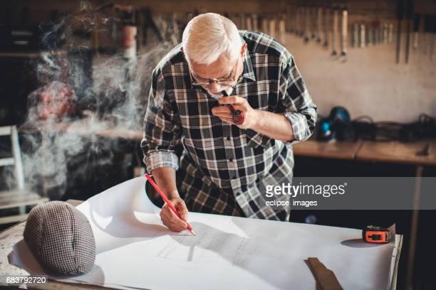 Man in basement Workshop