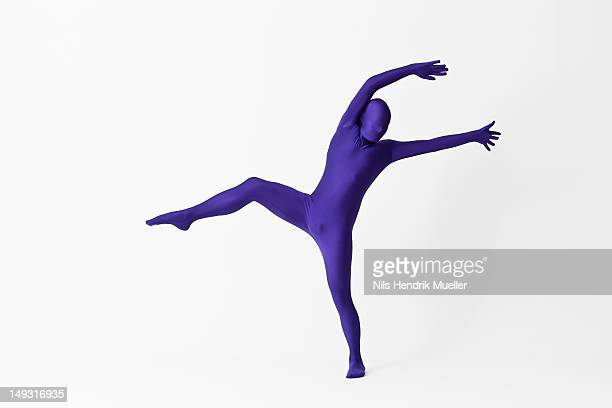 man in bodysuit posing - bodysuit stock pictures, royalty-free photos & images