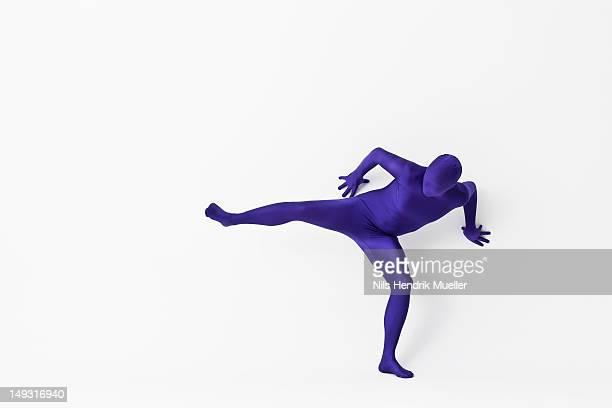 man in bodysuit posing - bodysuit stock pictures, royalty-free photos & images