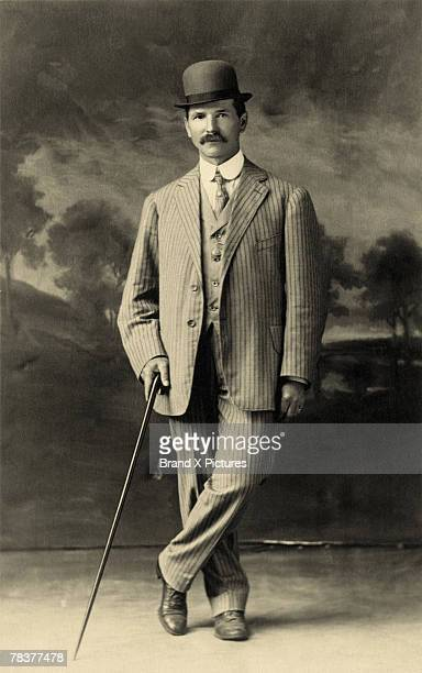 Man in bowler hat with cane