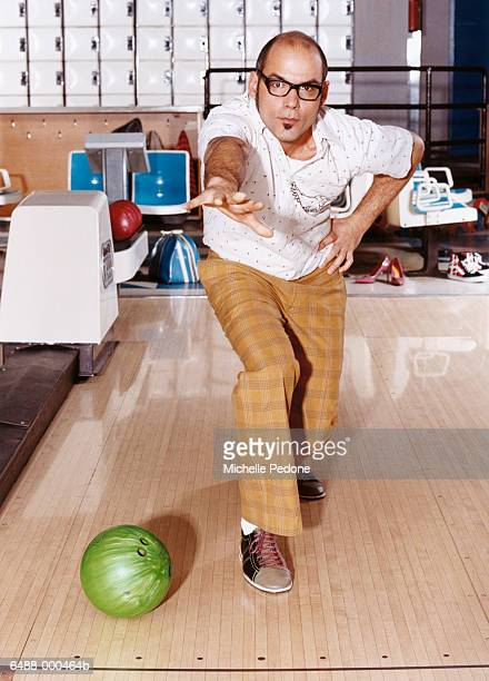 man in bowling alley - goatee stock pictures, royalty-free photos & images