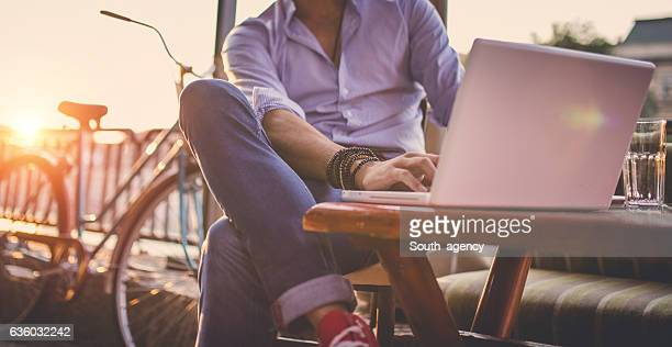 man in cafe - fashionable stock pictures, royalty-free photos & images