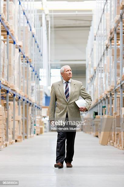 man in charge in storage