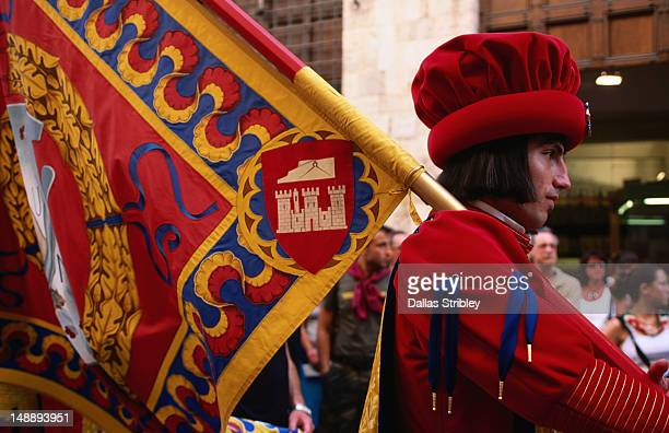Man in costume, Il Palio parade.
