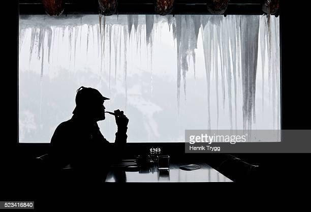 Man in diner