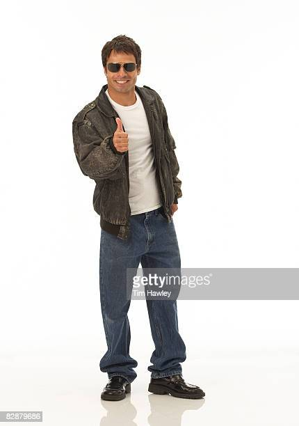 man in flight jacket and sunglasses