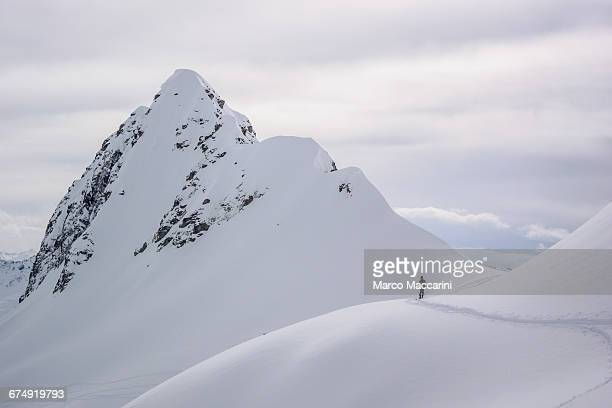 Man in Front of a Mountain Peak