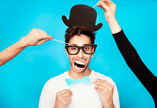 man in funny disguise - gettyimageskorea
