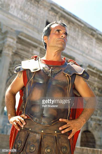 Man in Gladiator Outfit