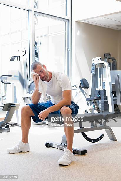 man in gym finished with working out
