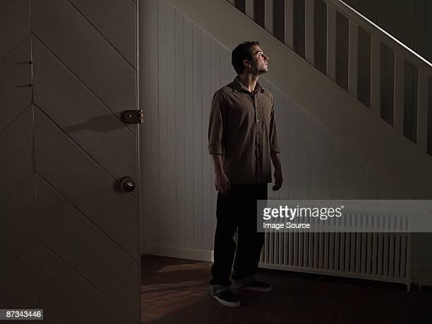Man in hallway