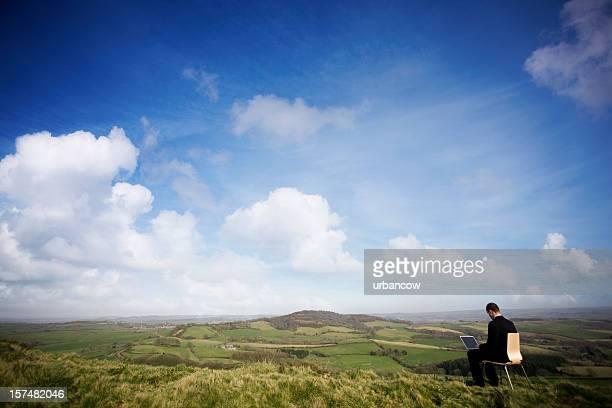 Man in his outdoor office