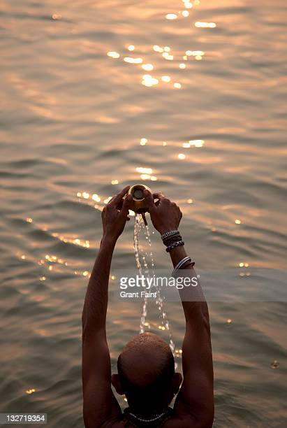 man in holy river. - lord bath stock pictures, royalty-free photos & images