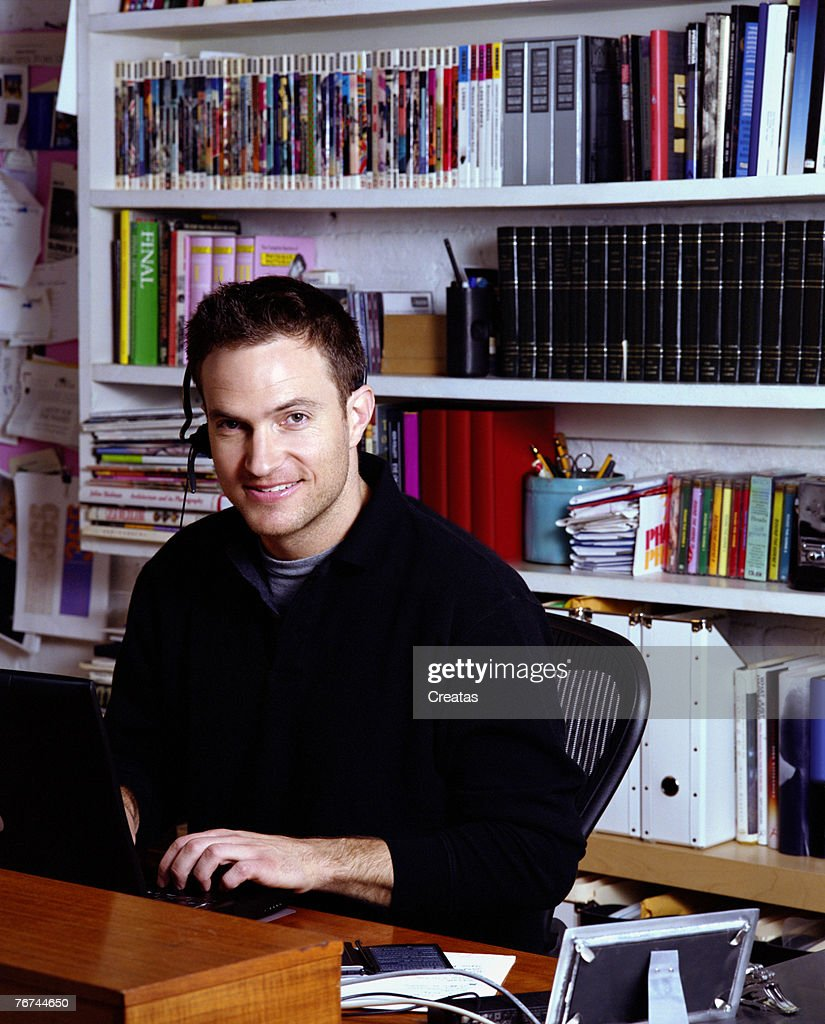 Man in home office : Stock Photo