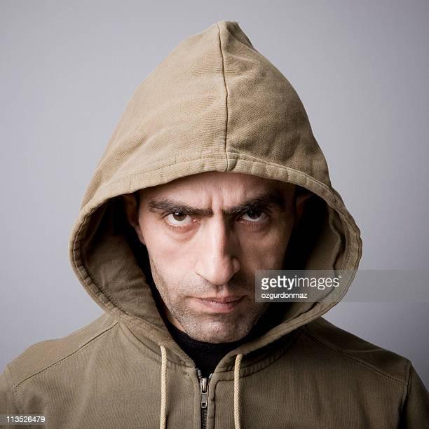 Man in hooded coat