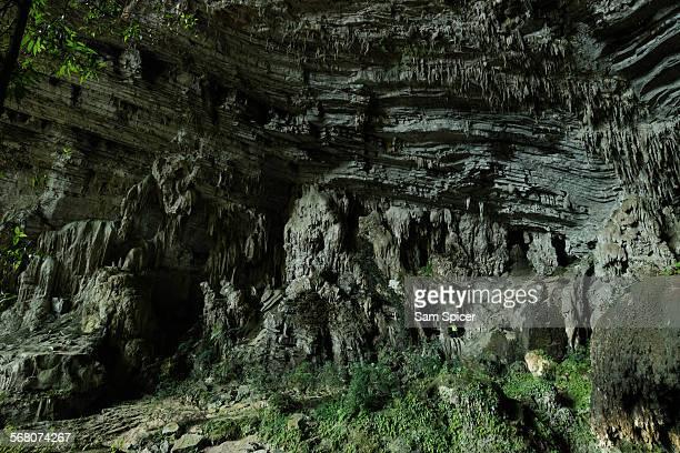 Man in huge Vietnam cave