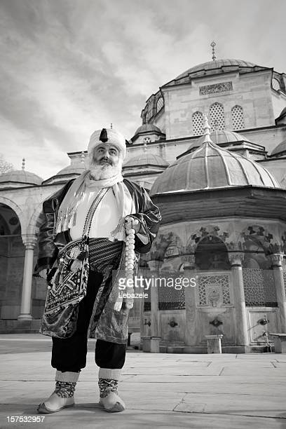 man in mosque - historical geopolitical location stock photos and pictures