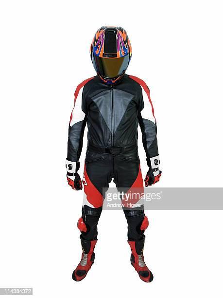 homem em motocicleta couro - corrida de motocicleta - fotografias e filmes do acervo