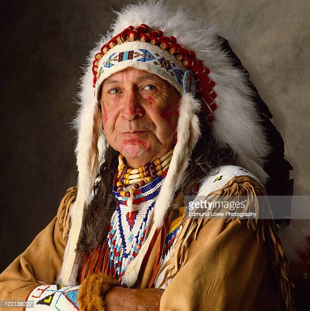 Man in Native American traditional dress