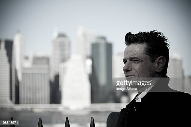 man in new york city - desaturated stock pictures, royalty-free photos & images