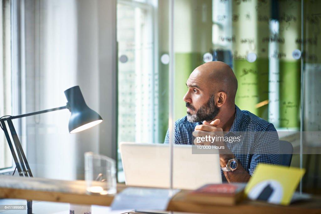 Man in office. : ストックフォト
