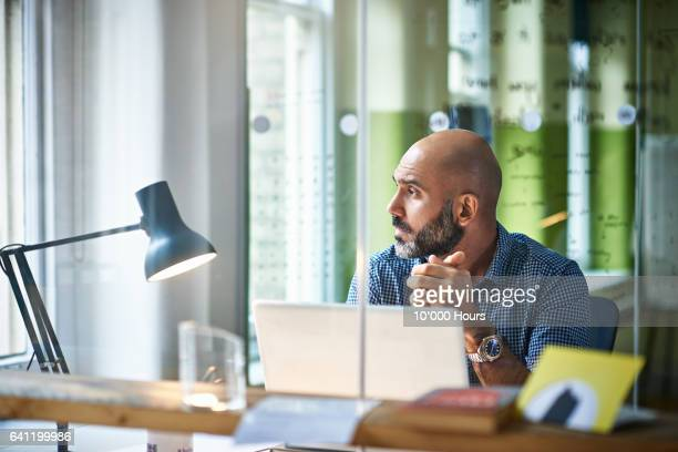 man in office. - reflection stock pictures, royalty-free photos & images