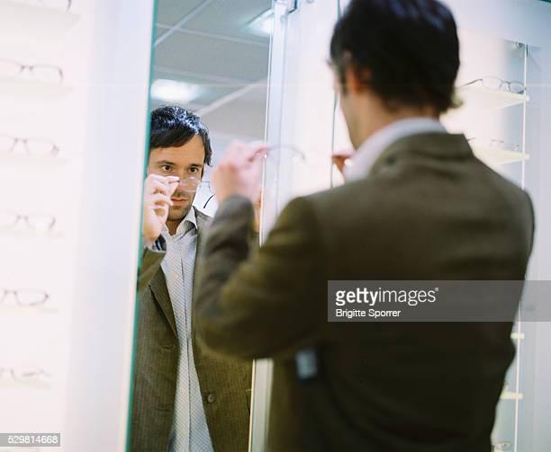 Man in Optician Shop