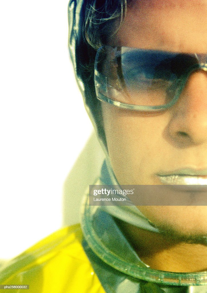 Man in protective suit, close-up : Stockfoto