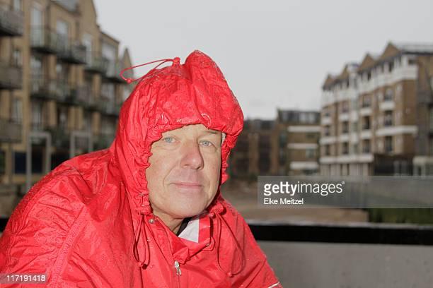 Man in raincoat