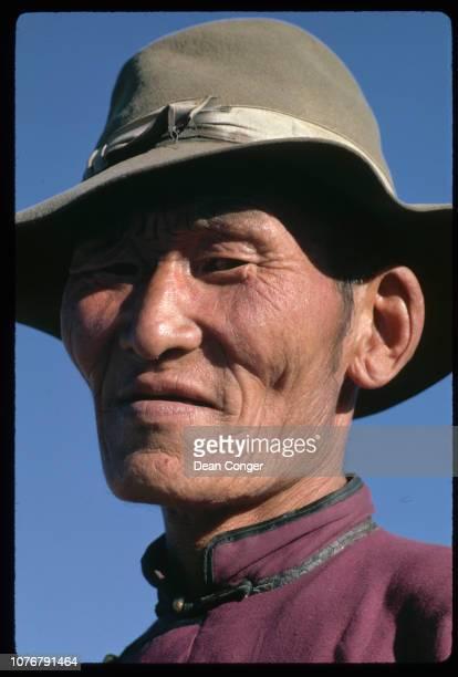 Man in Rural Mongolia
