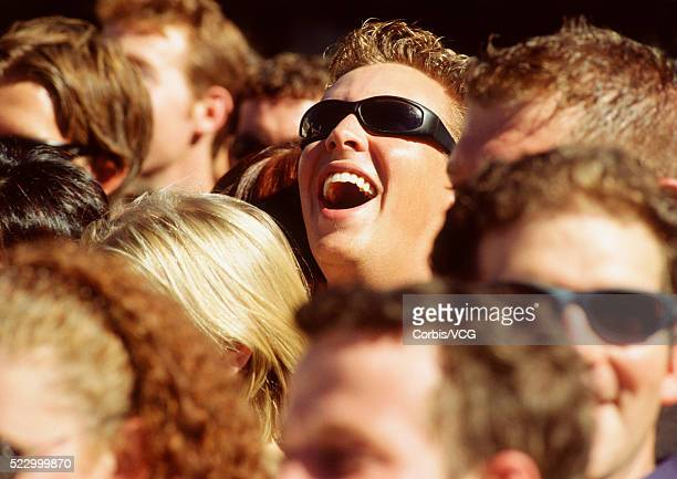 Man in Sunglasses Laughing