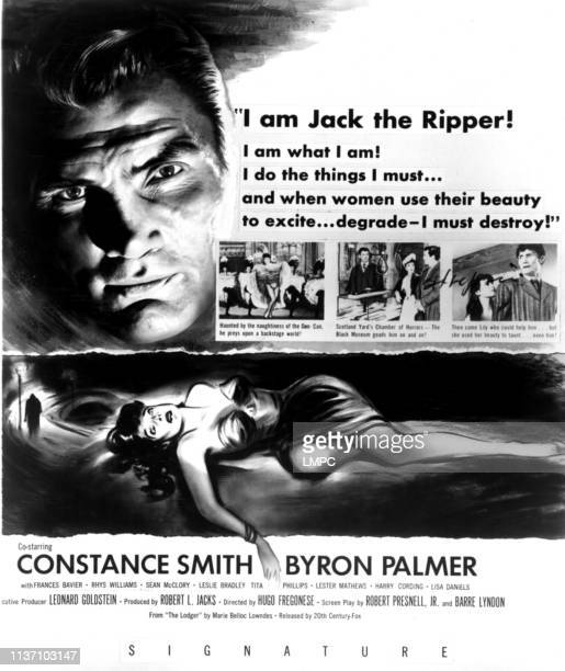Man In The Attic poster Jack Palance Constance Smith 1953