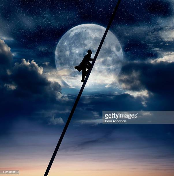 man in the moon - ladder to the moon stock pictures, royalty-free photos & images