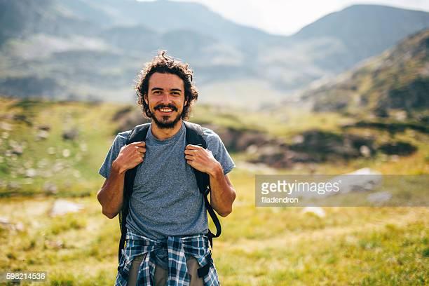 Homme dans la montagne