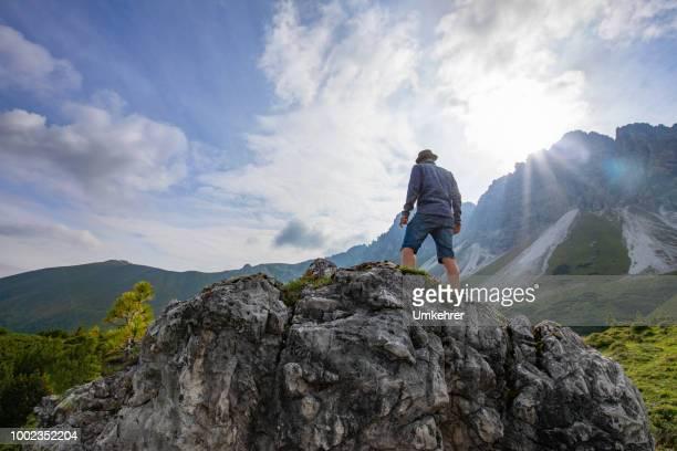 Mann in den Bergen