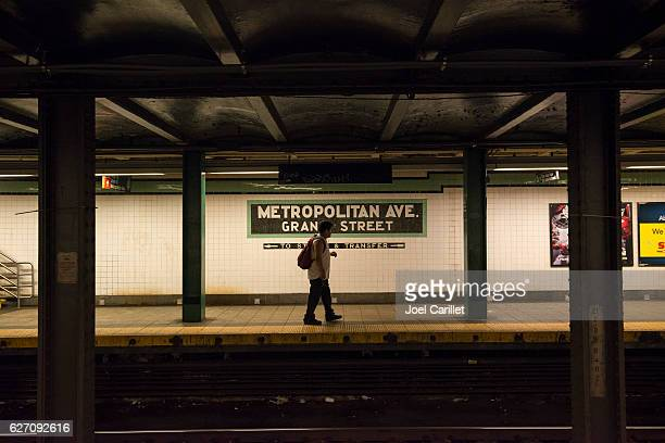 Man in the New York City subway system