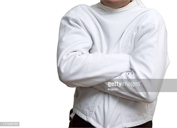 Man in the straitjacket (isolated, clipping path, XXL)