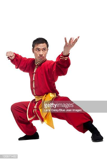 Man In Traditional Chinese Clothing doing Martial Arts