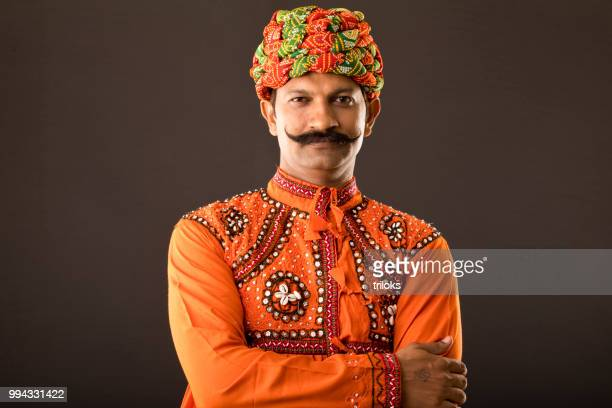 man in traditional costume - rajasthan stock pictures, royalty-free photos & images