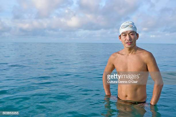 Man in tropical sea