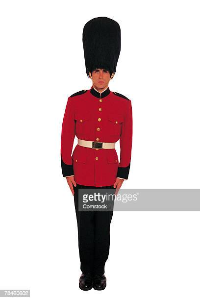 man in uniform of british royal guard - honor guard stock pictures, royalty-free photos & images