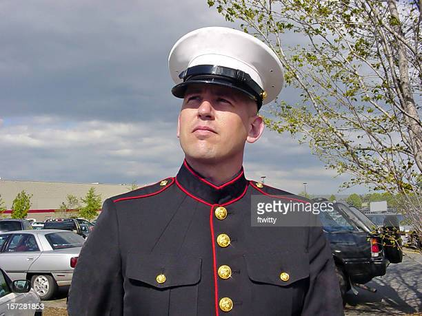 man in uniform - marines military stock photos and pictures