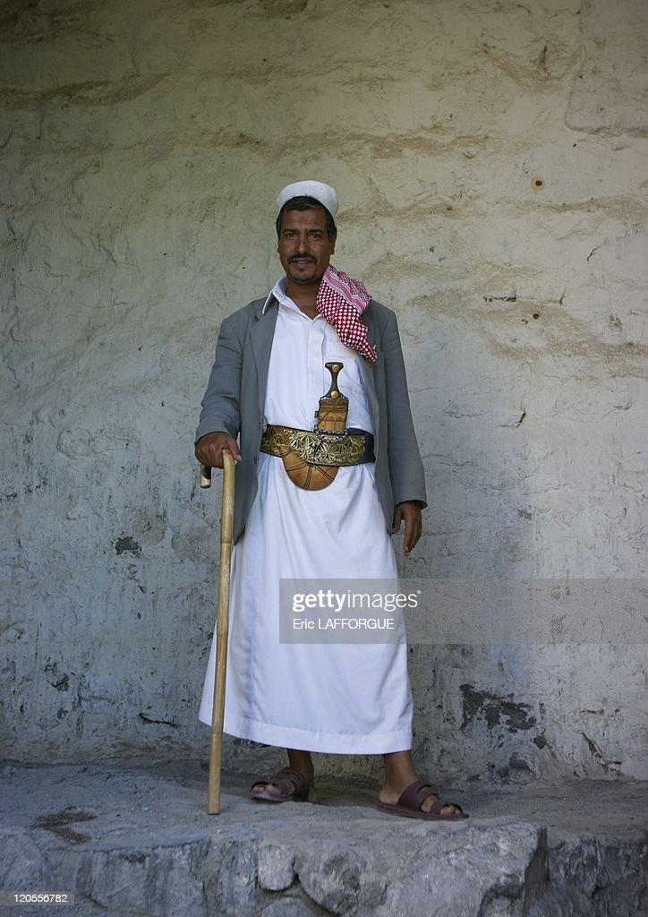 Man In Yafrus In Yemen On October 10, 2004 - : News Photo